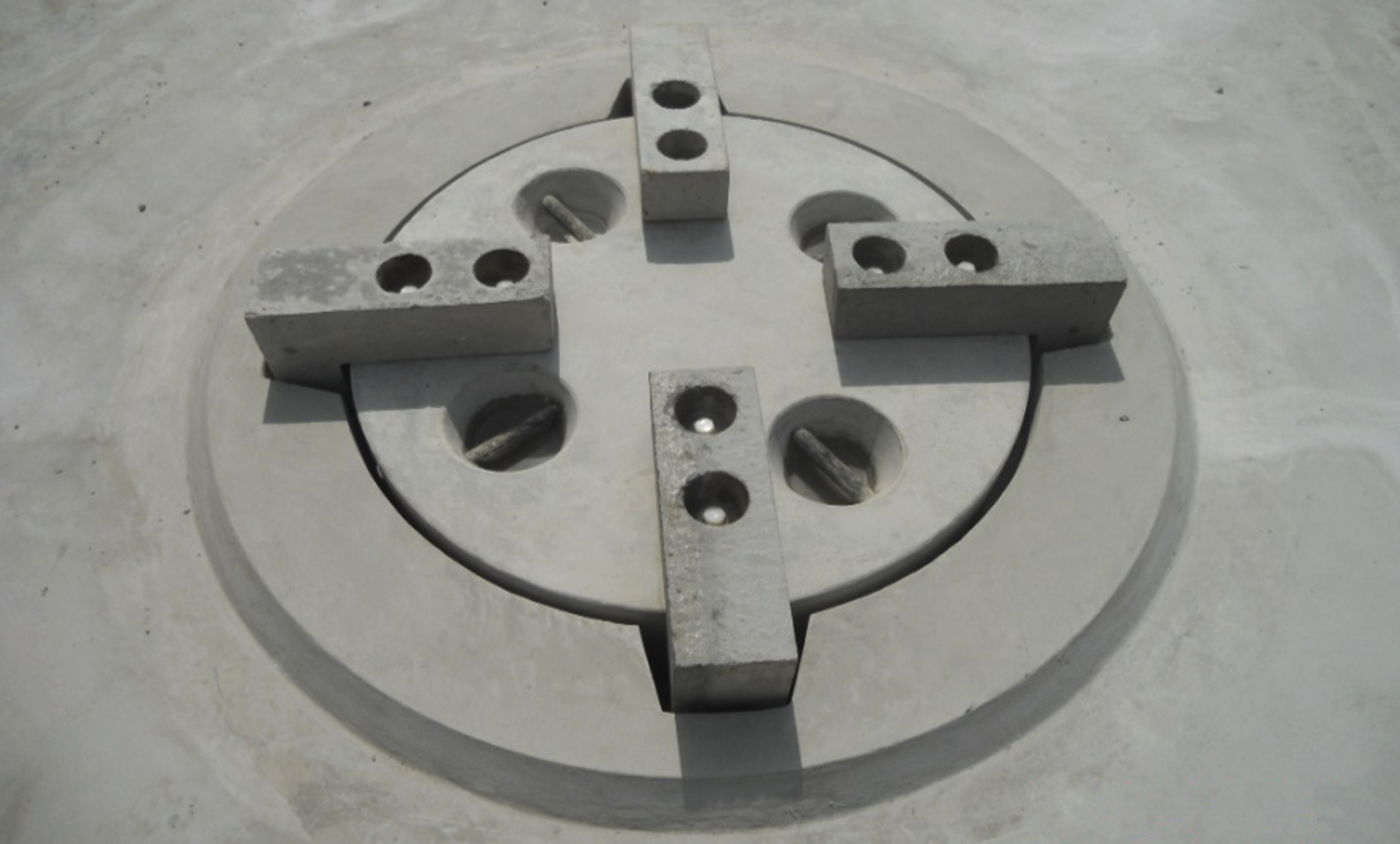 Inside accessible by corrosion-free manhole