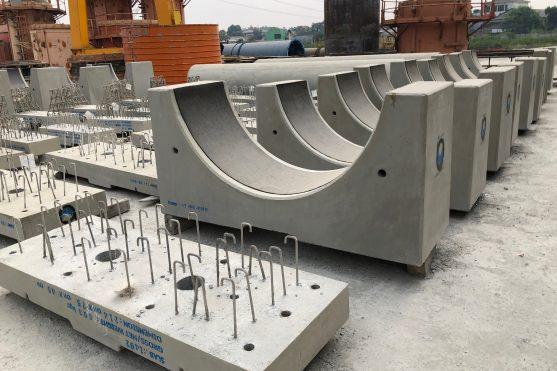Bonna Precast Cradles with seismic design